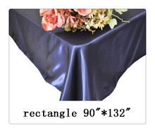"Free shipping rectangle tablecloth size 90""*132"" color navy blue for wedding decoration/navy blue table cloths for weddings"