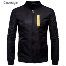 Cloudstyle Brand Men Jackets Aviator Jacket Long Sleeve Letter Printing Zipper Baseball Clothing Autumn Winter Casual Outwear(China)