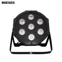 HOT high quanlity 7X9W LED MINI PAR Can Slim Par Light LED Flat Par64 RGB 3IN1 Tri LED