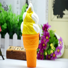 1Piece 16CM Soft Squeeze PU Slow Rebound Mobile Phone Straps Squishy Bucking Toys Ice Cream Slow Rising Phone Decor P0.11(China)