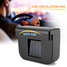 Onever Black Solar Sun Power Car Auto Fan Air Vehicle Vent Cool Cooler Ventilation System Radiator Fit for Fits Car Window