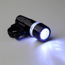 1pcs Lamp Black Bike Bicycle 5 LED Power Beam Front Head Light Headlight Torch free shipping