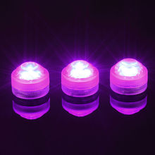 New Year!20pcs Wedding Decoration Single Color Waterproof Submersible Led Tea Light Mini Party Light With Battery For  Christmas