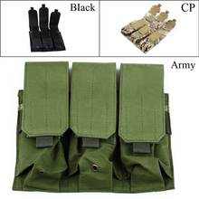 Outdoor Portable Tactical Military Hunting Airsoft Gun Pistol M4 Triple Magazine Pouch 3 Colors(China)