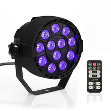TSSS UV Black Lights 24W Led Par Lights Sound Actived Auto DMX512 by IR-Remote stage lighting for Wedding Halloween Porch Paint(China)