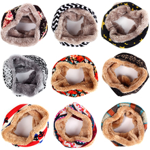 Fashion Knitted Printing Winter Scarf For Women Men Children Unisex Warm Neck Scarf Casual Collar Scarves For Boys Girls