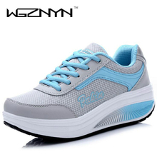WGZNYN 2017 New Summer Zapato Woman Breathable Mesh Zapatillas Shoes For Women Network Soft Casual Shoes Flats EUR Size 35-40(China)