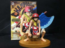12cm Monkey D. Luffy Action Figure Gold axe theater decisive battle One piece PVC Gift Toys doll Anime Movie Model collection