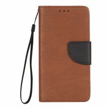 For Huawei Y5 II Case New Luxury Flip Wallet Case Hang Rope Case Cover For Huawei Y6 II Case Brown Hang Rope Back Cover(China)