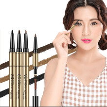 3 in 1 Waterproof Eyebrow Pen Makeup Cosmetic Eyebrow Pencil Brush Beauty Tools 2017 Hot Selling Eyebrow FM88(China)