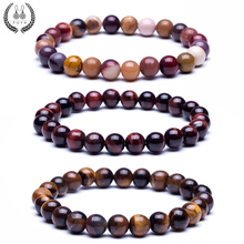 Buy New natural stone beads bracelets High tiger eye buddha lava round beads elasticity rope bracelets women&men jewelry for $1.06 in AliExpress store