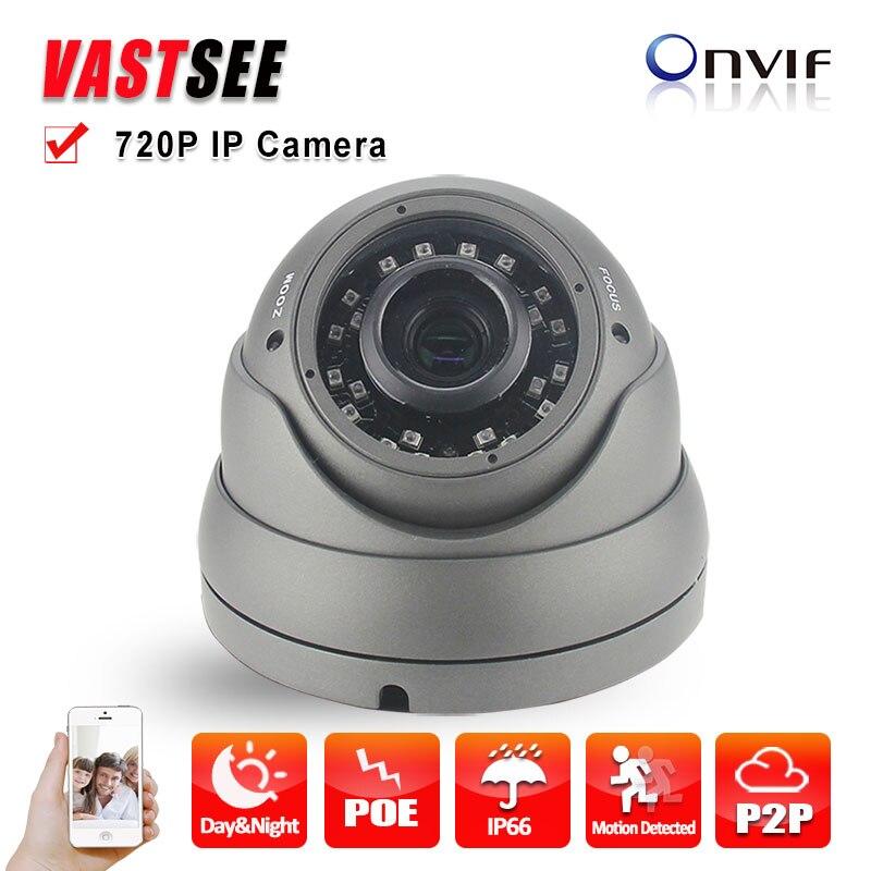Outdoor 720P IP Camera 1.0MP POE P2P ONVIF2.4 metal vandalproof/waterproof  IR Night Vision CCTV cameras de seguranca hot<br><br>Aliexpress
