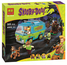 10430 Scooby Doo block bricks p029 Mystery Machine Bus figure Building Block figureset Toys Compatible With lego