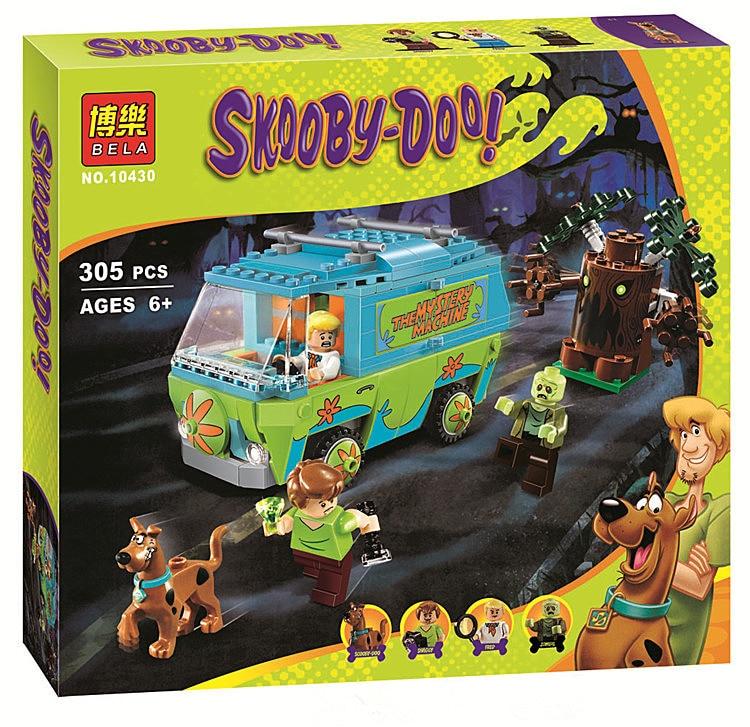 10430 Scooby Doo block  Mystery Machine Bus figure Building Block figureset Toys Compatible With bricks p029<br><br>Aliexpress