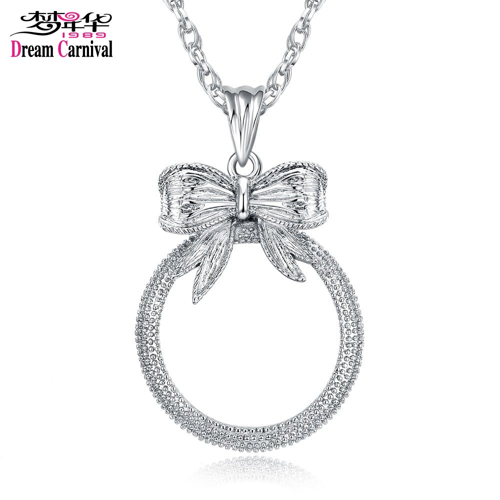 Classic Fashion Gift! Cute Bow shape Pendant Women Reading 2x Magnifying Glass Top Quality Necklace Reading Glass Pendant (6)