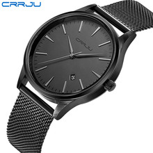 Top Luxury Brand Men Full Stainless Steel Mesh Strap Business Watches Men's Quartz Date Clock Men Wrist Watch relogio masculino(China)