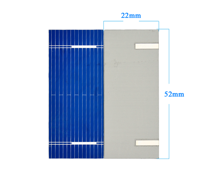 Aoshike 100pcs Mini Solar Panel 52 * 22mm Polycrystalline Silicon Solar panels 0.19w 0.5v/DIY Cell Phone Charging Battery 4