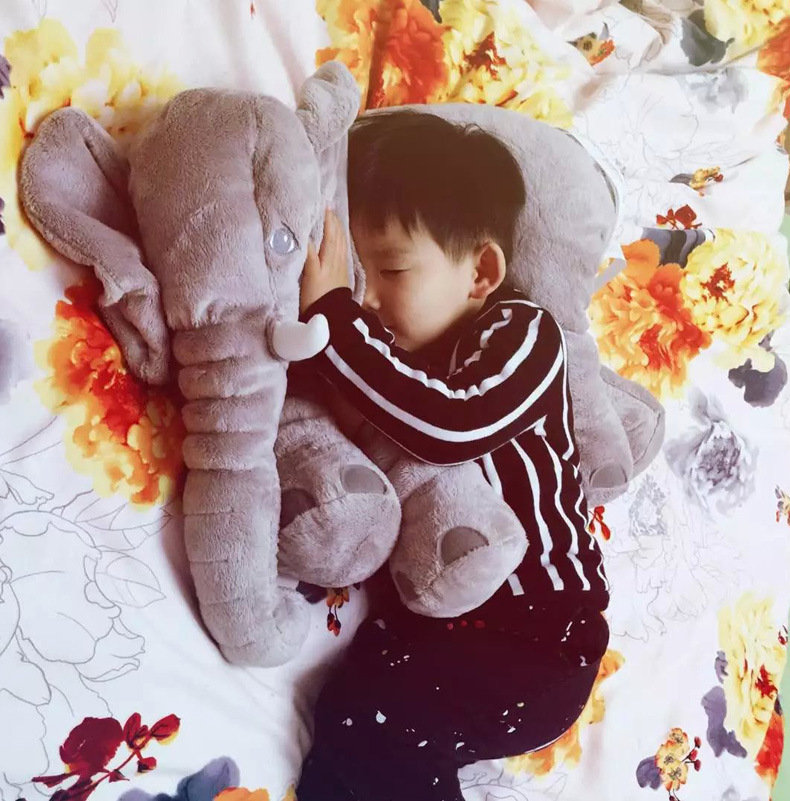 new plush elephant toy stuffed gray elephant doll gift doll about 52x45cm<br>