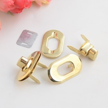Free Shipping-10 Sets Gold Tone Trunk Lock Handbag Bag Accessories Purse Snap Clasps/ Closure Locks 37x21mm J3092