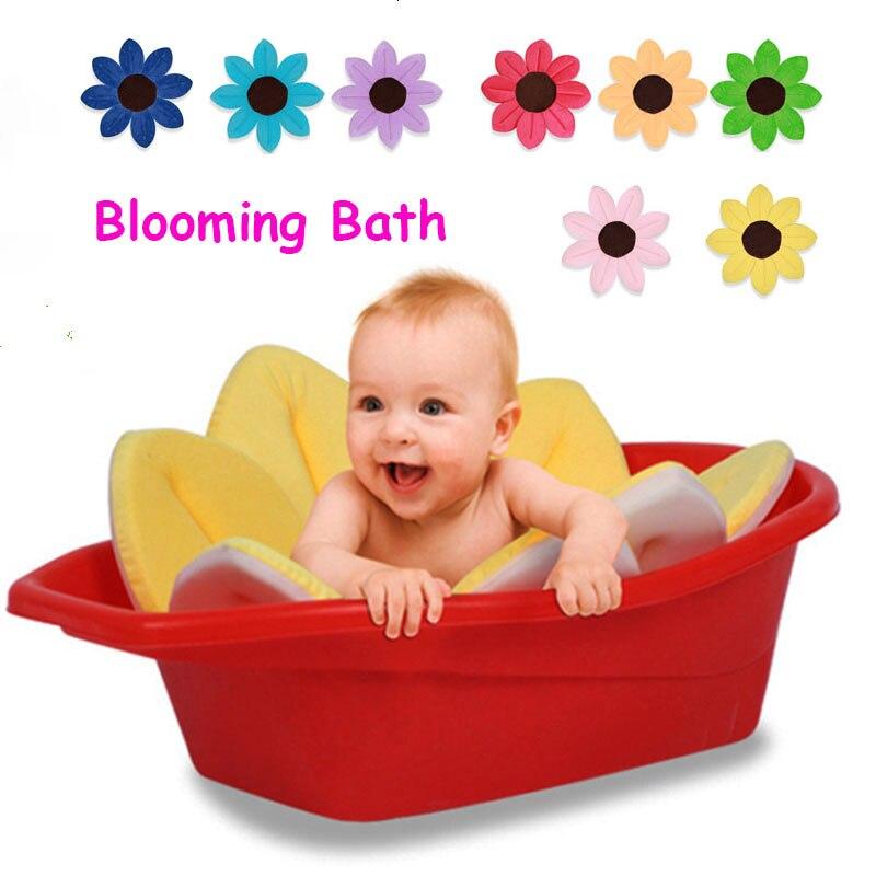 Blooming Bath Mat Baby Bath Foldable Bathtub Seat Soft Liner Infant ...