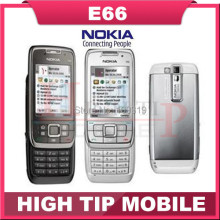 E66 Original Nokia E66 Mobile Phones Bluetooth 3G WIFI GPS  JAVA Unlock Cell Phone Refurbished Free Shipping In Stock