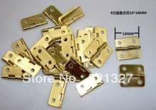 Wooden packing box accessories Small hinge metal hinge 6 minutes flat fillet 18 * 16MM small hinge