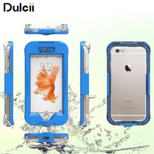 capa coque For iPhone 6 6s Plus Waterproof Phone Cases 10M Underwater Waterproof Dive Case Cover for iPhone 6 6s Plus - Cyan(China)