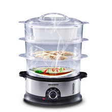 Multifunctional household electric steamer can de 3 steamer high-capacity multi-layer steamed pot stainless steel timing electri