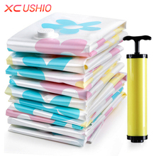 11pcs/set Thickened Vacuum Storage Bag Vacuum Compressed Bag with Hand Pump Reusable Blanket Clothes Quilt Storage Bag Organizer(China)