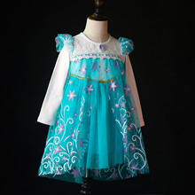girl party navidad princess tute christmas dress childrens fancy carnival costume for wedding disfraz princesa kerst kleding(China)