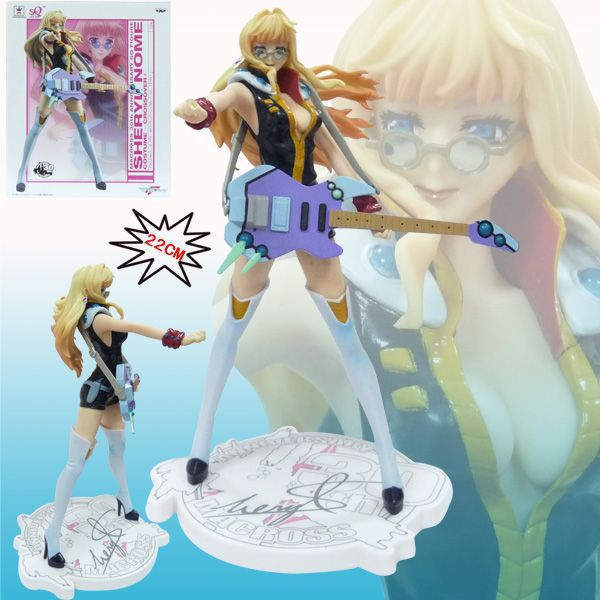 Sexy Girl Anime Macross F Sheryl 22cm PVC Action Figure Collection Model Toy  SG074<br><br>Aliexpress