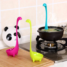Creative cooking pots dinosaur soup spoon tableware long handle  monster porridge spoons dinnerware cooking utensils