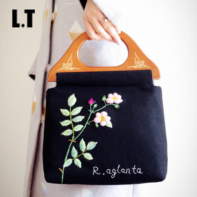 Handmade Embroidery Floral Wool Handbag Female Black Shabby Chic Vintage Retro Elegant Rustic Preppy Cottage Shoulder Bag Etsy<br><br>Aliexpress