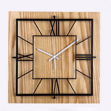 Solid 3D Wood Wall Clock Square Living Room Bedroom Entrance Creative Clock Personalized Fashion Simple Wall Clock(China)