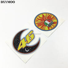 MotoGP Motorcycle Helmet Car Sticker Decals Reflective for VW GOLF FORD ATV TECH Rossi 46 Sun Moon 3M