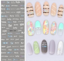 DIY Beauty Products Design Water Transfer Stickers for Nails Beauty Handwrite Words Nail Wraps Sticker Fingernails Decals