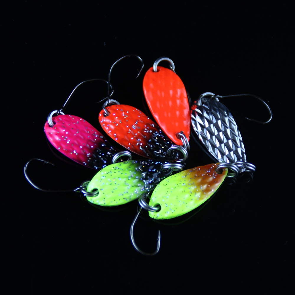 8pcs Fishing Lure Spoon 3cm 3.5g Hard Bait Metal Lures Isca Artificial Wobbler Micro Trout Spoon Bait Fishing Tackle Pesca 1 (14)