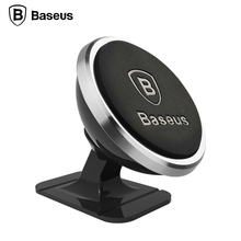 Baseus Universal Car Phone Holder 360 Degree GPS Magnetic Mobile Phone Holder For iPhone 8 7 Samsung Magnet Mount Holder Stand(China)