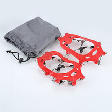 Outdoor Hiking Climbing Children 11-Teeth Claws Crampons Non-slip Shoes Cover Spikes Chain Ski Ice Snow Travel Kit(China)