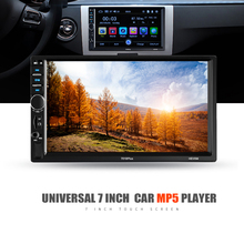 Buy Automagnitola 2 Din Car MP5 Media Player 7in 7018 PLUS Auto MP4 MP3 Radio Video Player Remote Control Rear Camera Input for $59.74 in AliExpress store