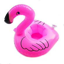 1PC Inflatable Swan Flamingo Pool Toys Float Inflatable Swan For Pool Swimming Water Fun  Toys Wholease Drink Can Holder Balloon