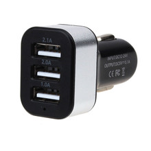 Best Price Car Universal 12V 3Port USB DC Charger Adapter For iPhone Cellphone