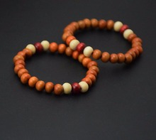 2x/lot brown wood beads love couple bracelets bangles wristband jewelry summer gifts promotion new design(China)