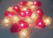 Heart beige red 2014 wedding decoration string light 49(China)
