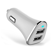 Original USB Car Charger Dual USB Charger Output 2.4A Fast Charging Cell Phone Car-Chargers Travel Adapter Cigar Lighter