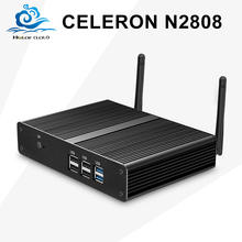 Mini PC Computer Intel Celeron N2808 Dual Core 2*HDMI Mini Desktop Computer Fanless Wifi Windows7/8 Thin Client Customized PC