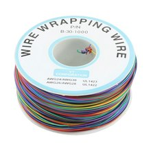 Promotion! P/N B-30-1000 30AWG 8-Wire Colored Insulation Wrapping Cable(China)