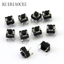 100 pz/lotto Mini Micro Momentaneo Tattile Push Button Switch 6*6*5mm 4 pin ON/OFF tasti pulsante DIP 6x6x5mm(China)