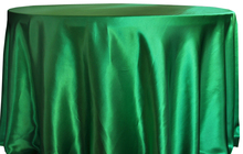 Free Shipping 10pcs Cheap Green 70''/90''/108''/120''/132'' Round Satin Table Cloth Banquet Table Cover Wedding Table Linens