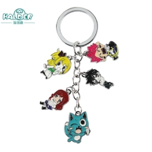 Halder Fairy Tail Keyring Youth Comics Figures Key Chains Etherious Natsu Dragneel Pendants Accessories Gadgets For Key Holder(China)